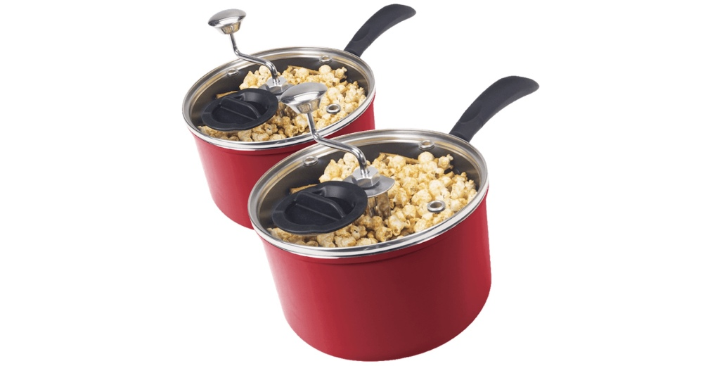 2-for-Tuesday Zippy Pop 5.5 Quart Stovetop Popcorn Poppers
