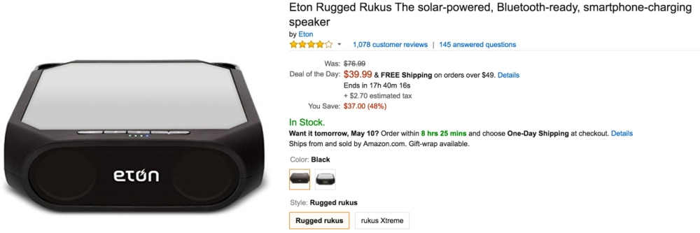 Amazon eton speaker