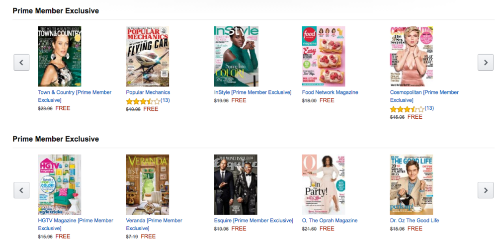amazon free magazine offer