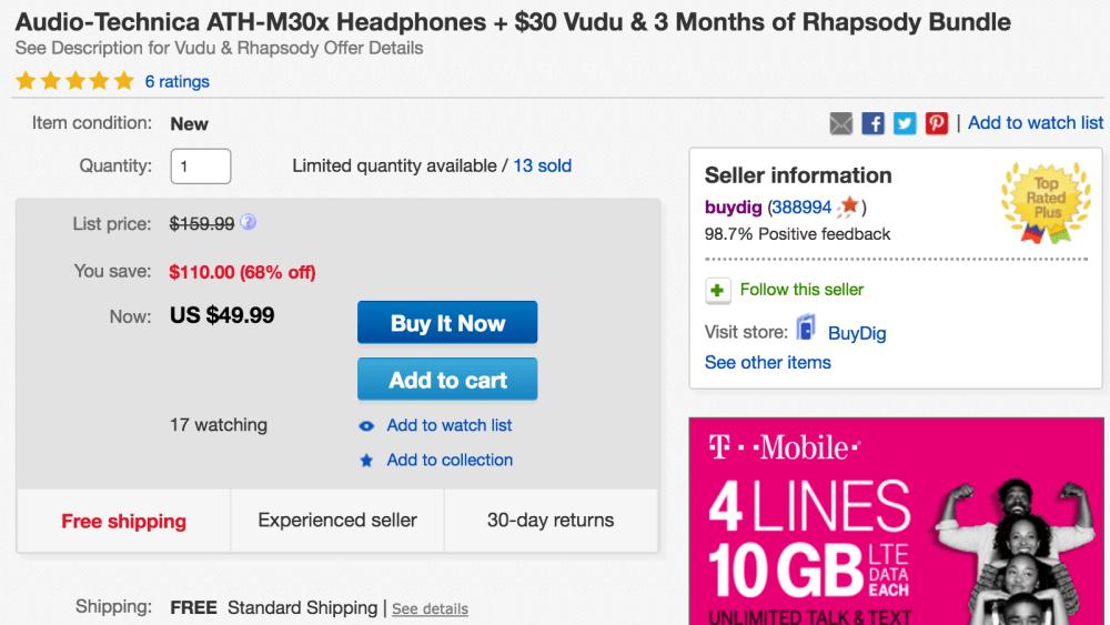 audio-technica-ath-m30x-headphone-deal
