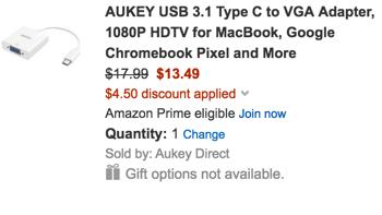 aukey coupon code vga