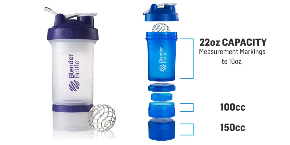 BlenderBottle ProStak System 22-Ounce Bottle and Twist n' Lock Storage-3