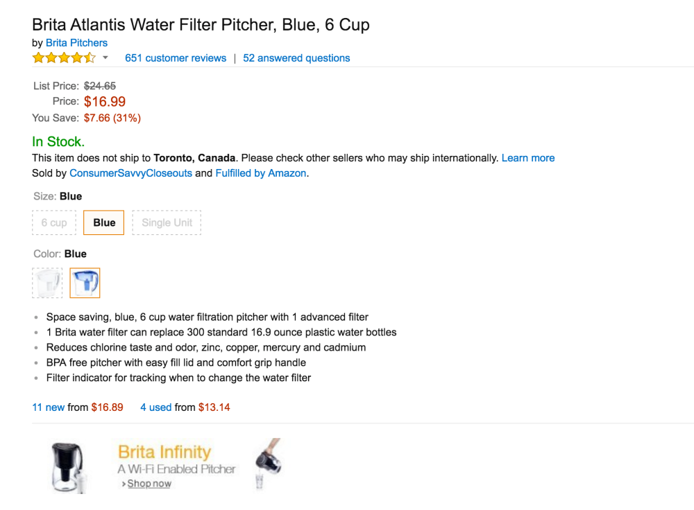 Brita Atlantis Water Filter Pitcher-5