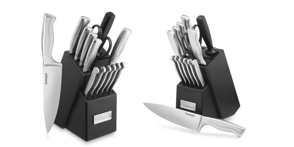 Cuisinart 15-Piece Stainless Steel Hollow Knife Block Set-3