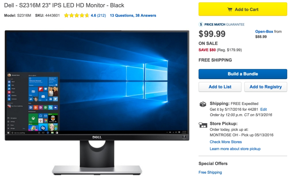 Dell 23-inch IPS LED Monitor