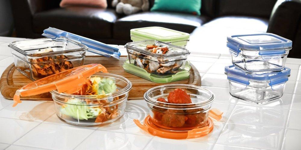 Glasslock Oven Safe 14-Piece Food Storage Set-1