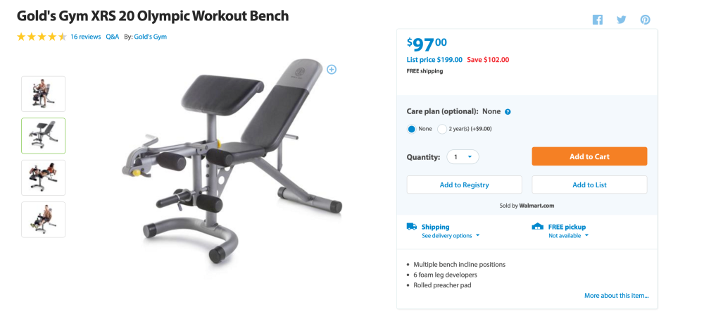 Gold's Gym XRS 20 Olympic Workout Bench-4