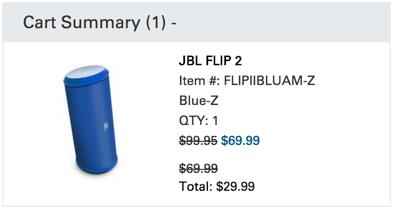 harman audio discount on jbl flip 2