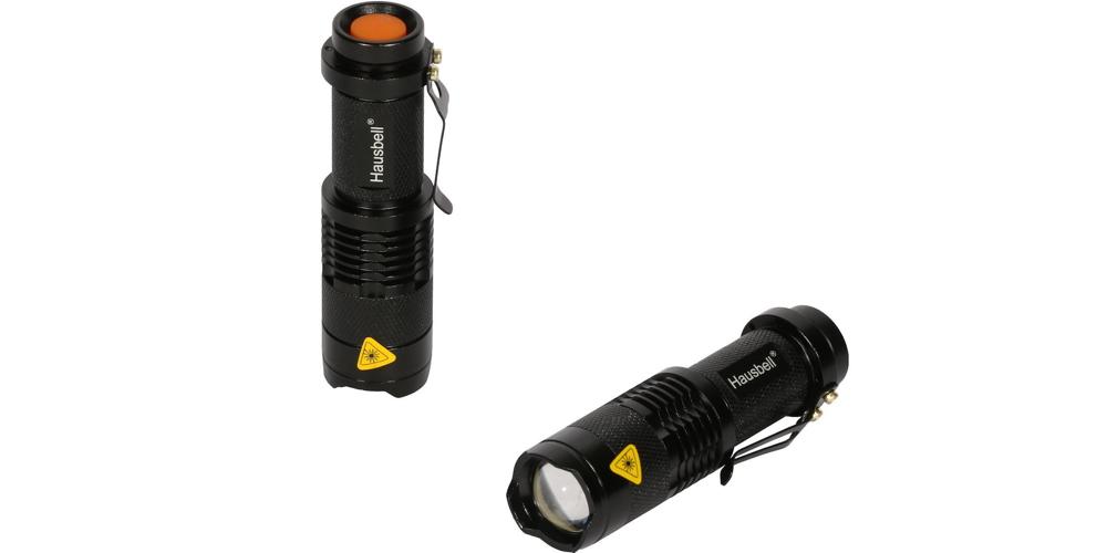Hausbell 2X Cree Mini LED Flashlight, 2 Piece, 7W