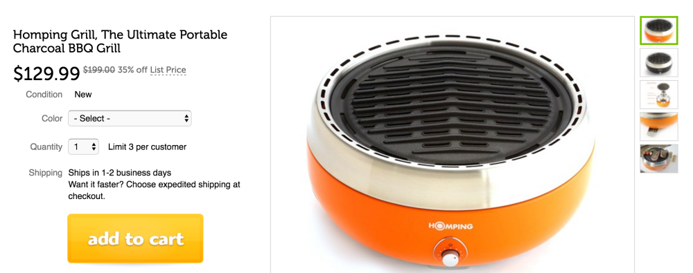 Homping Portable Tailgate Grill-sale-02