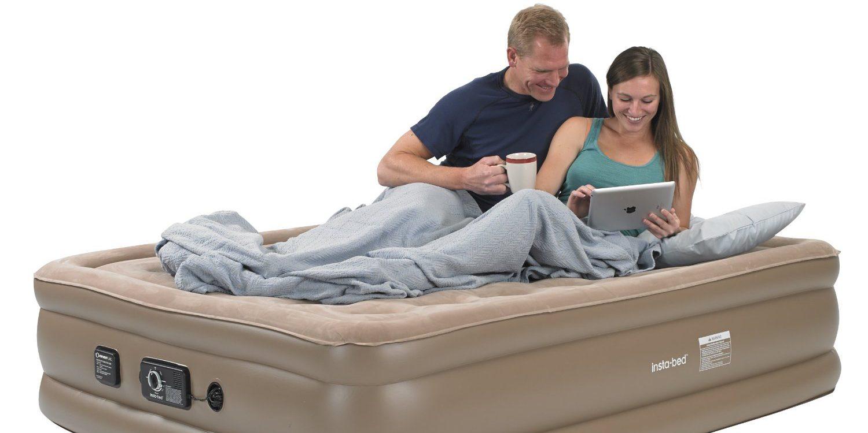 insta-bed raised air mattress with never fail pump