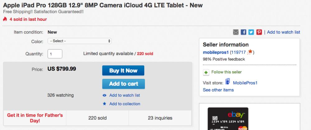 ipad pro ebay sale