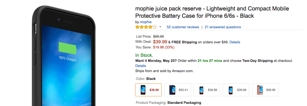 mophie amazon sale