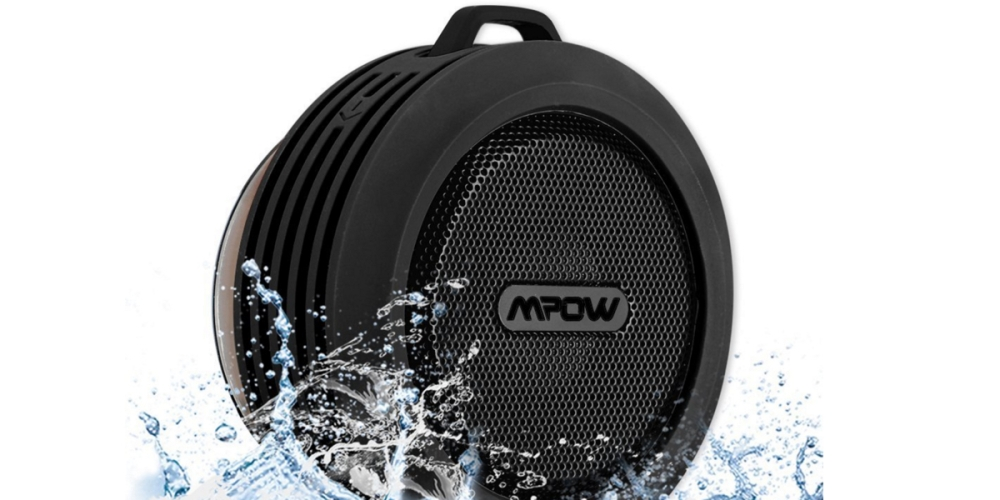 Mpow Buckler Portable Wireless Bluetooth Waterproof Speaker with Suction Cup for Shower:Outdoor
