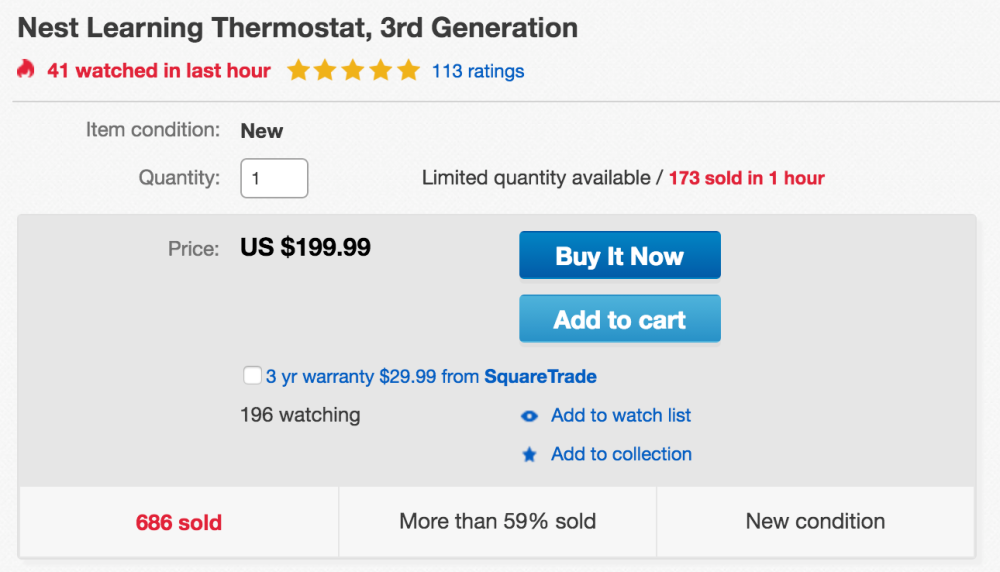 Nest Learning Thermostat (3rd Generation)-sale02
