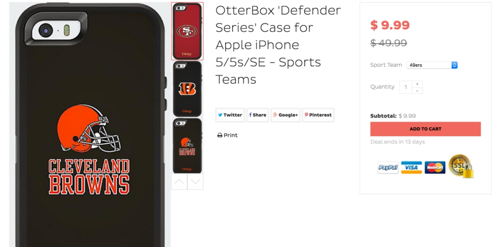 otterbox sport teams for iphone