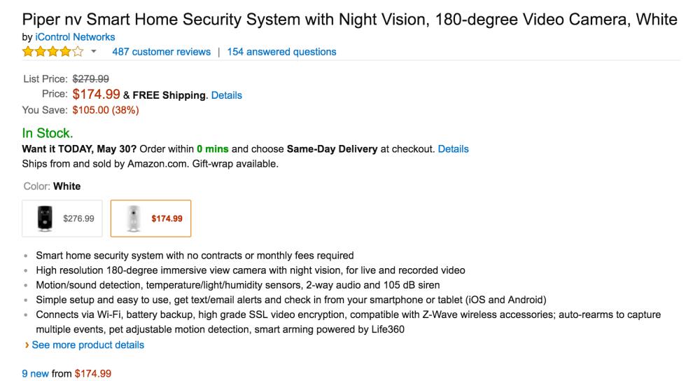 Piper P1.5-NA-B Night Vision Security Camera-3