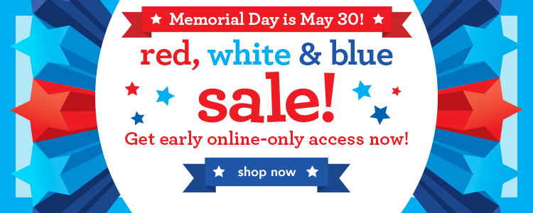 red white and blue sale