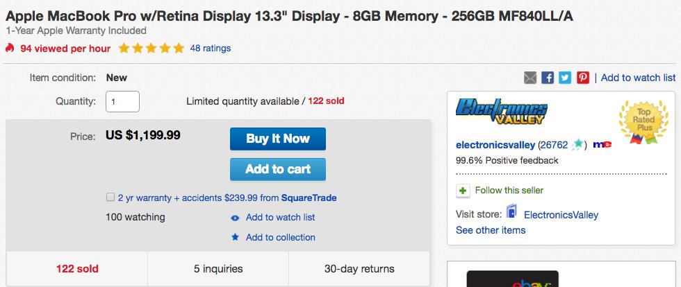 retina macbook pro ebay