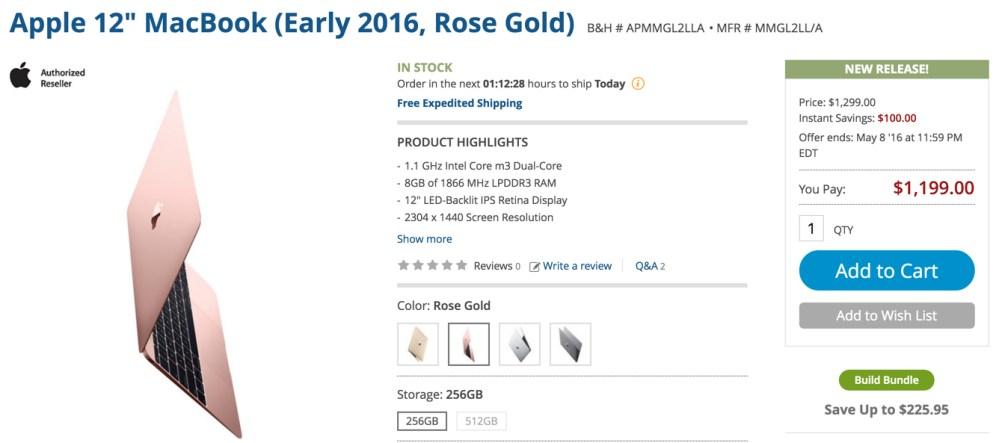 rose gold at B&H