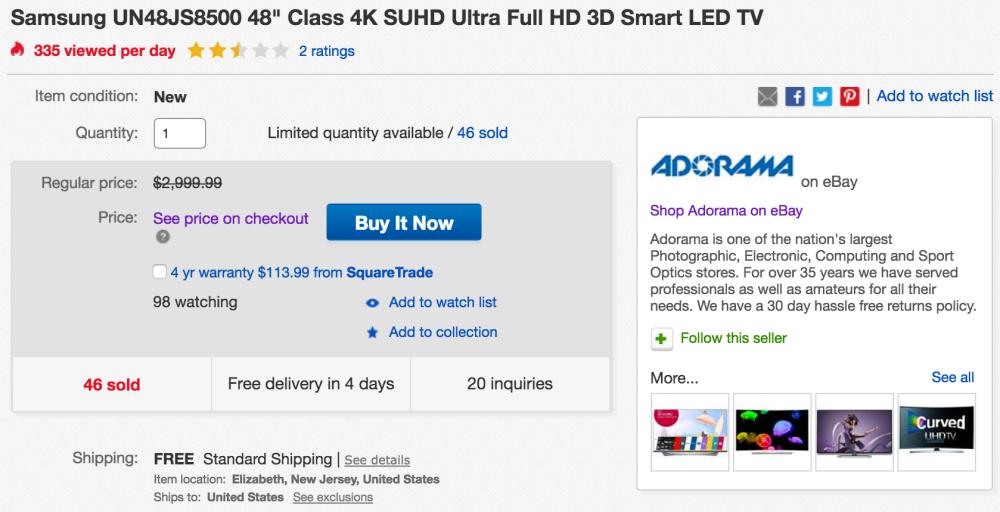 samsung-4k-48-inch-ebay-deal