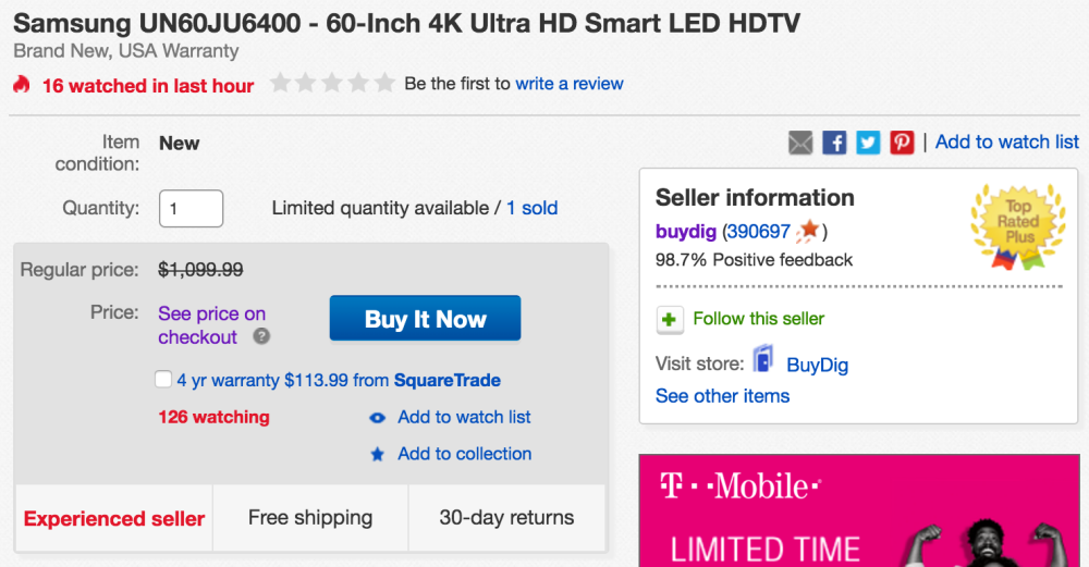 samsung-4k-60-inch-ebay-deal