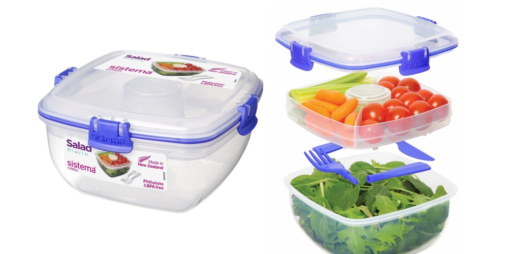 Sistema Klip It Collection Salad to Go Food Storage Container-4