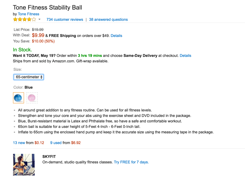Tone Fitness Stability Ball-3
