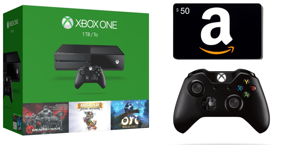 Xbox One 1TB Holiday Bundle plus a $50 Amazon Gift Card and extra Xbox One Wireless Controller, Halo 5 Limited Edition and Forza Horizon 2