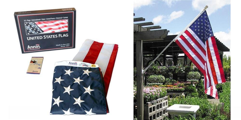 3x5 ft. American Flag Nylon SolarGuard Nyl-Glo-1