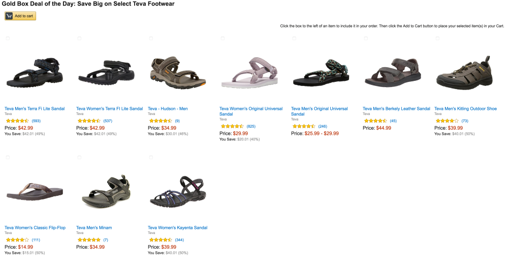 amazon sandals sale