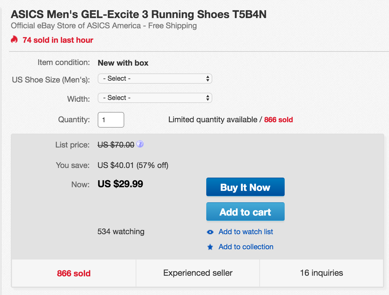 Grab a new pair of ASICS running shoes