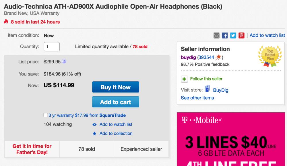 audio-technica-ath-ad900x-open-air-ebay-deal