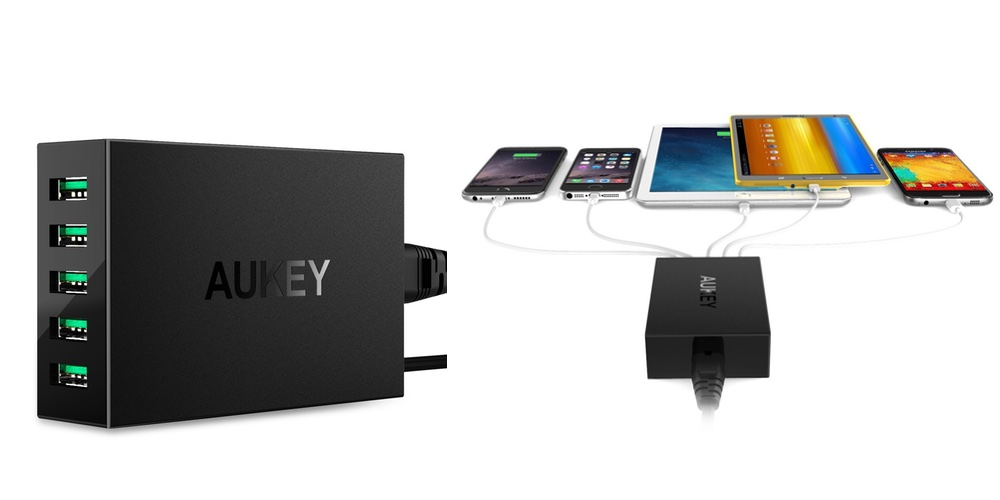Aukey 5-port usb charger