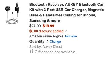 Aukey Bluetooth car adapter