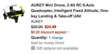 aukey min drone quadcopter