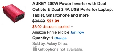 Aukey power inverter