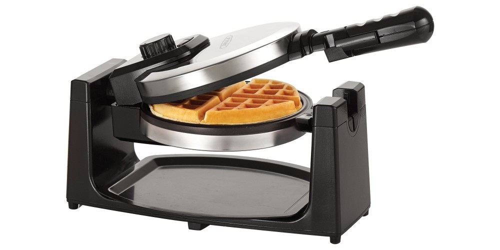BELLA Rotating Waffle Maker in Polished Stainless Steel (13991)