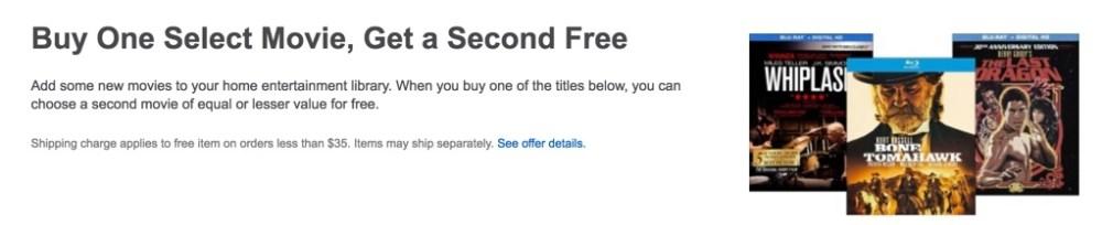 Best Buy BOGO Blu-rays