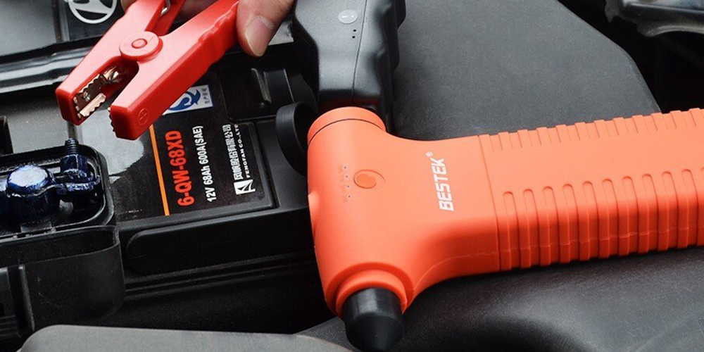 BESTEK 400A Peak Current Car Jump Starter 11000mAh with Built-in Escape Hammer