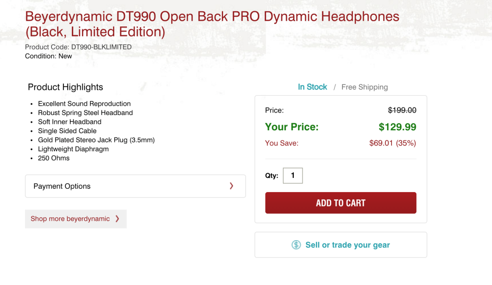 Beyerdynamic DT990 Open-Back PRO Dynamic Headphones-3