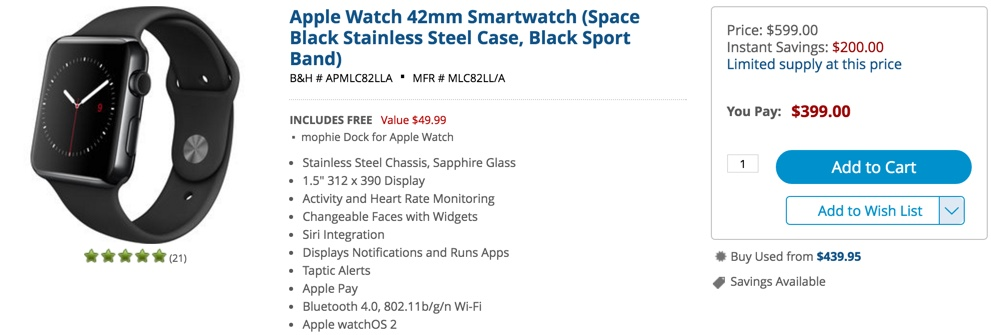 B&H apple watch sale