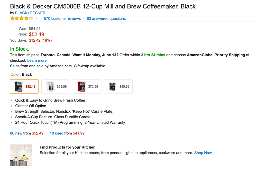 Black+Decker CM5000B 12-Cup Mill & Brew Coffeemaker-4