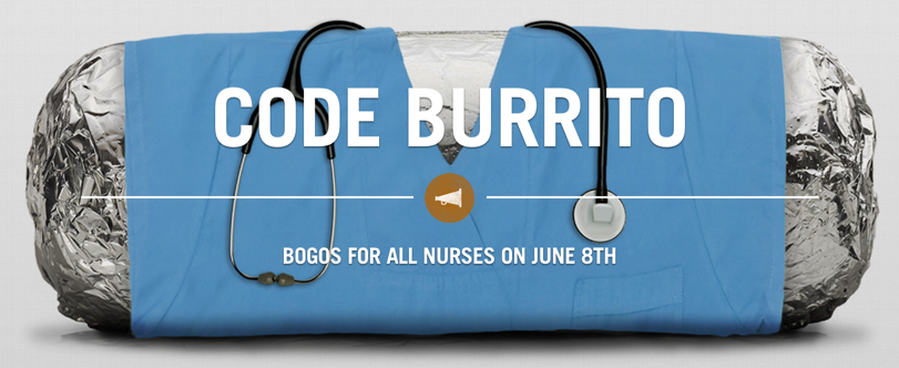 bogo for nurses at chipotle