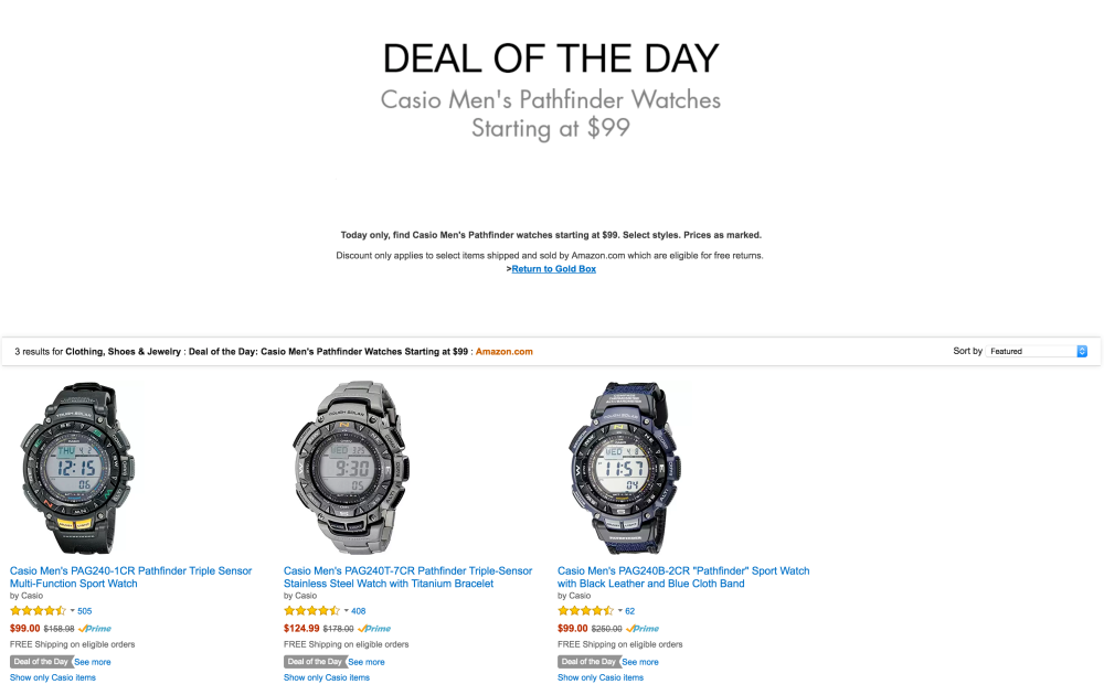 Casio Men's Pathfinder Triple Sensor Multi-Function Sport Watch-4