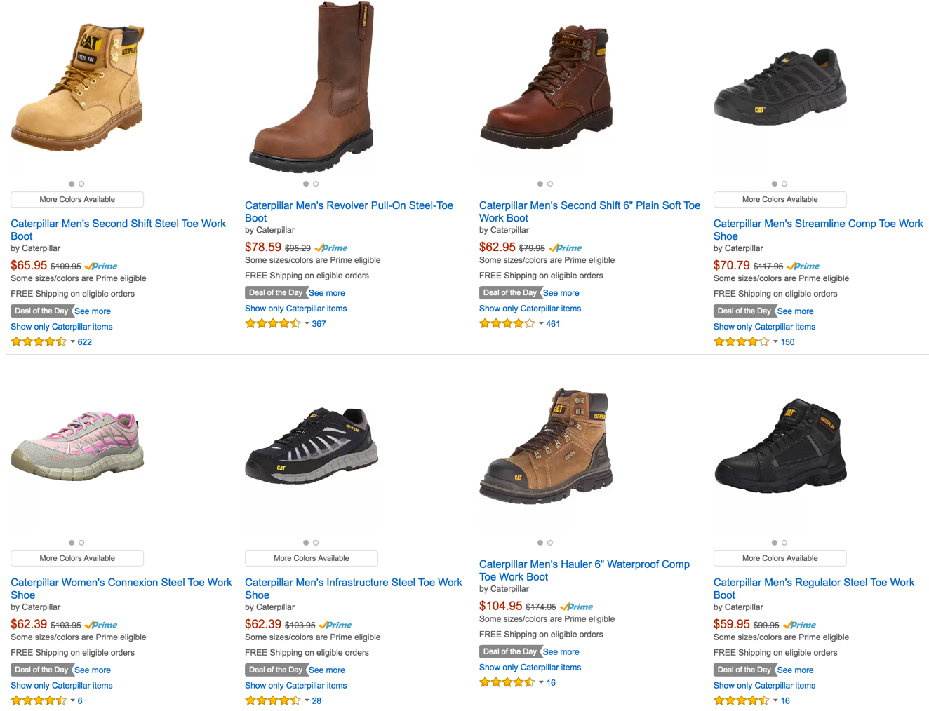 1f63d157165 Get the job done with Caterpillar Work Boots up to 40% Off: Men's ...