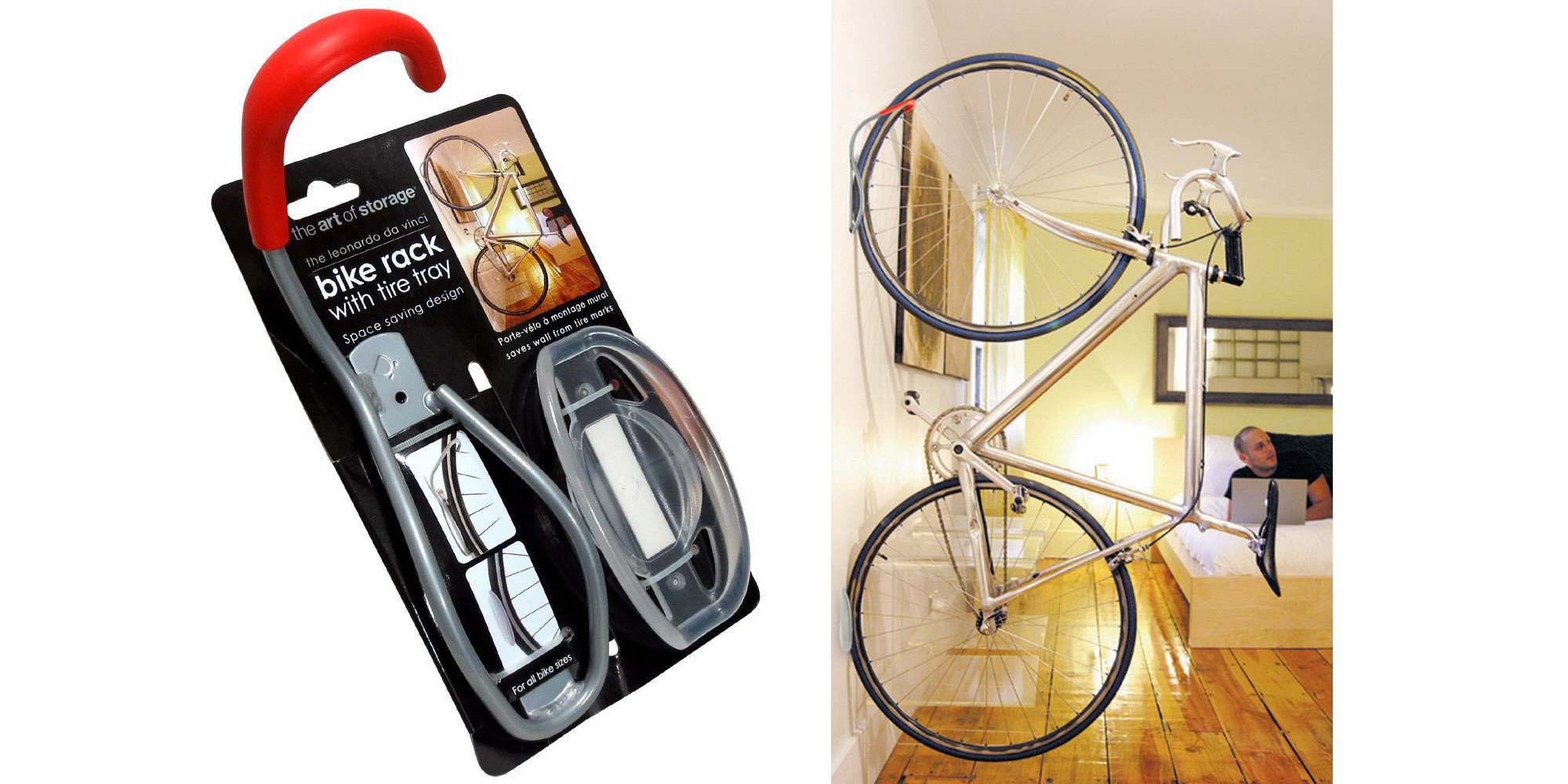 The Da Vinci Rack Hook Saves Space And Stores Your Bike In