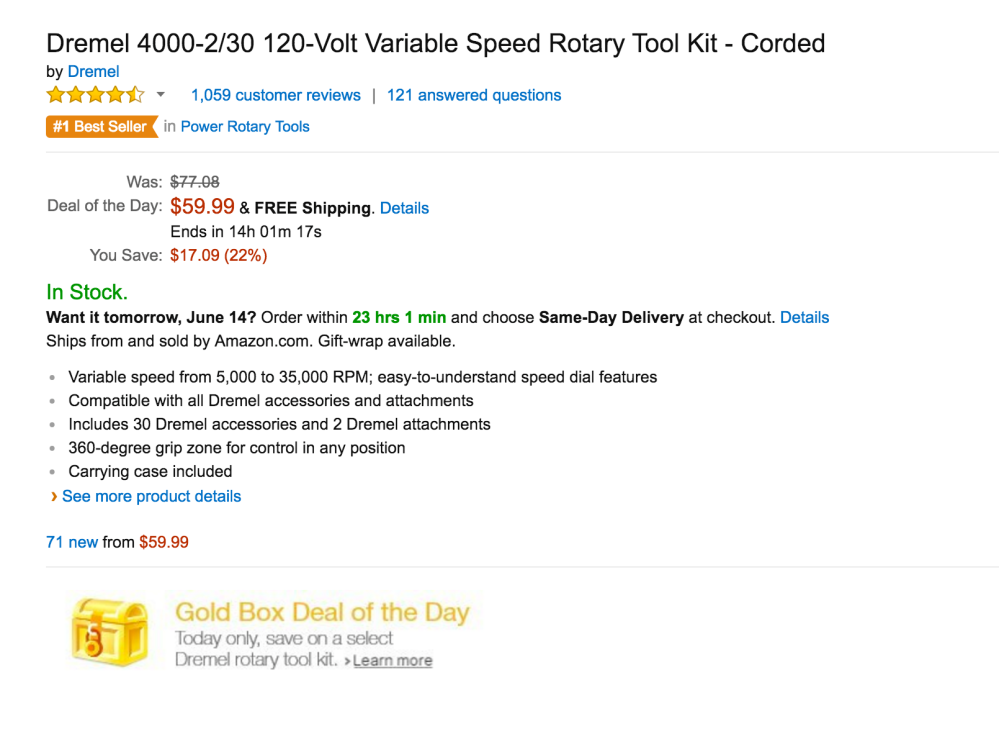 Dremel 120-Volt Variable Speed Rotary Tool Kit (4000-2:30)-2
