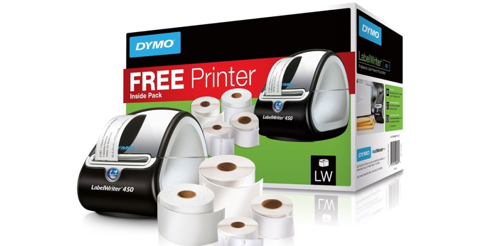 dymo label maker with rolls