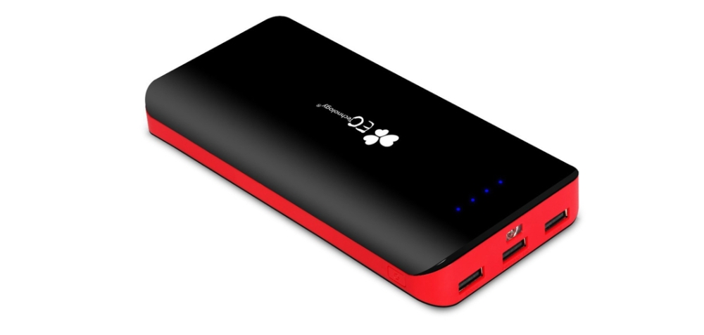 External Battery Power Bank with 3 USB Outputs